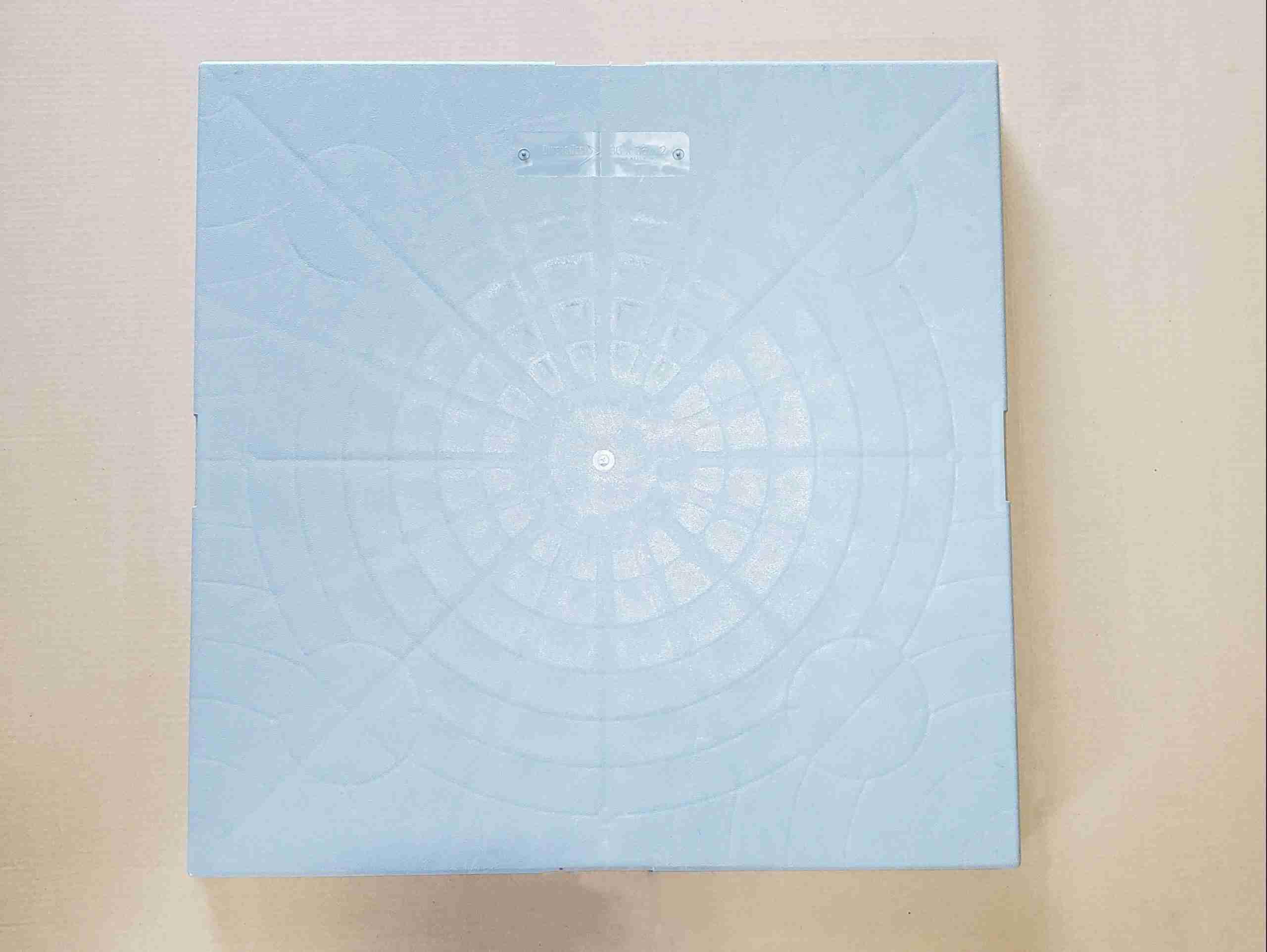 """Top view of Plastic Heat Pump Pad 36"""" x 36"""""""