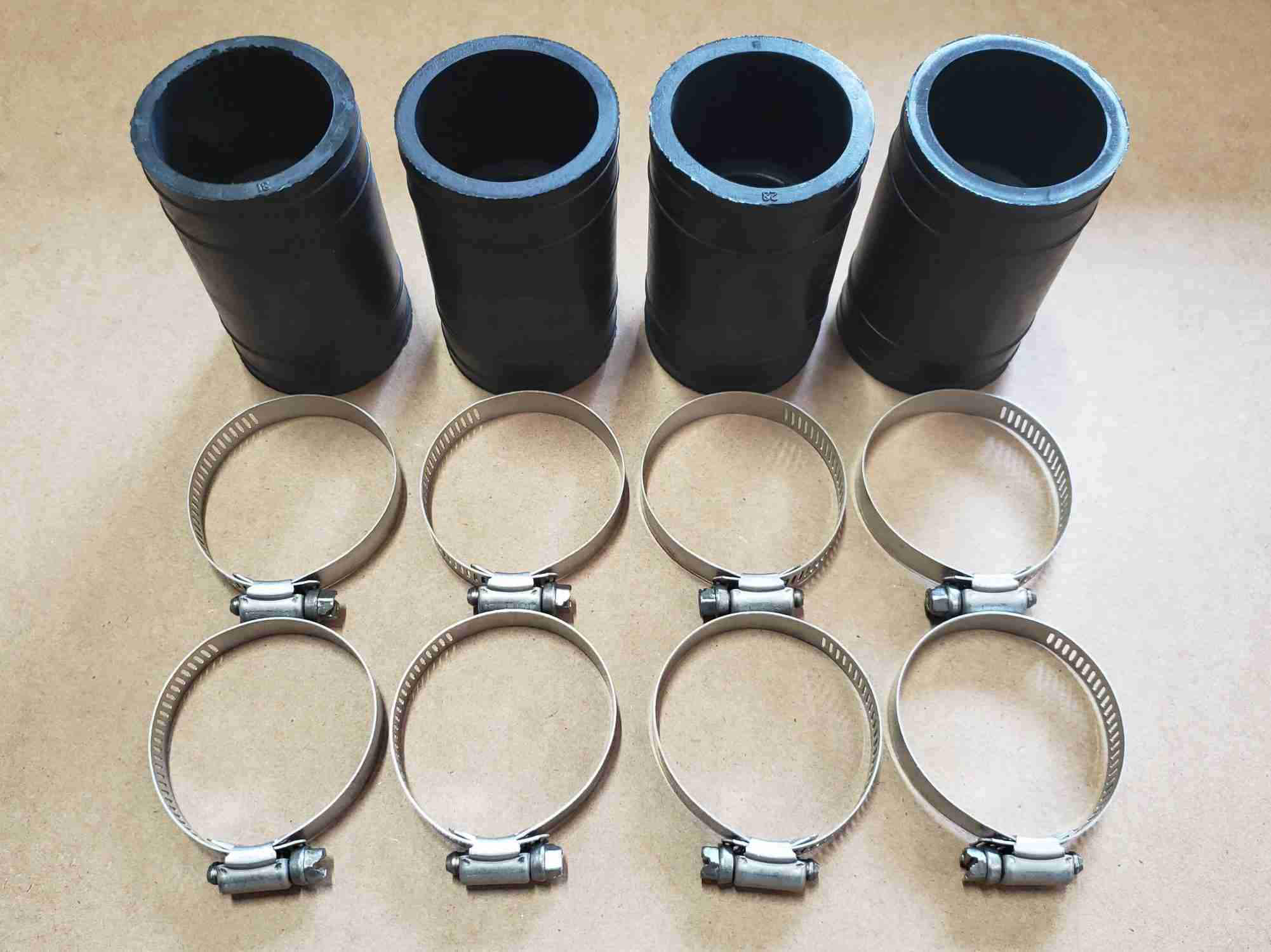 Hose and clamps for add on kit