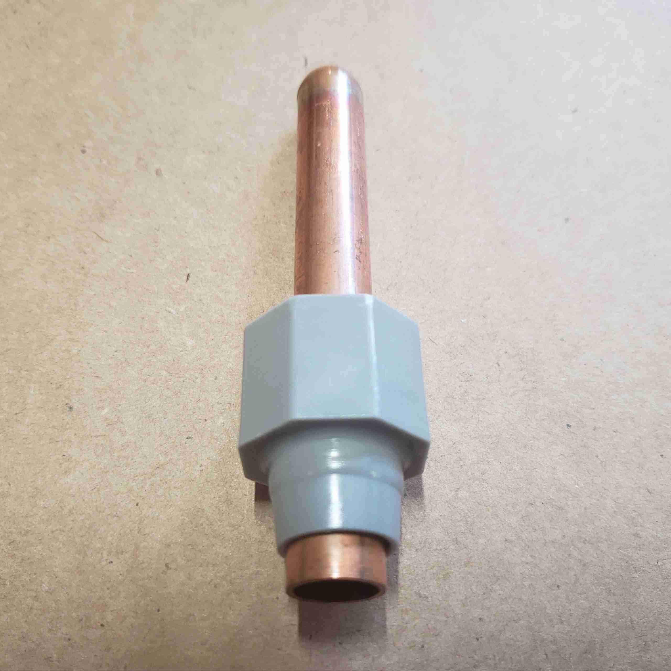 Alternate front view of Copper Temp Well
