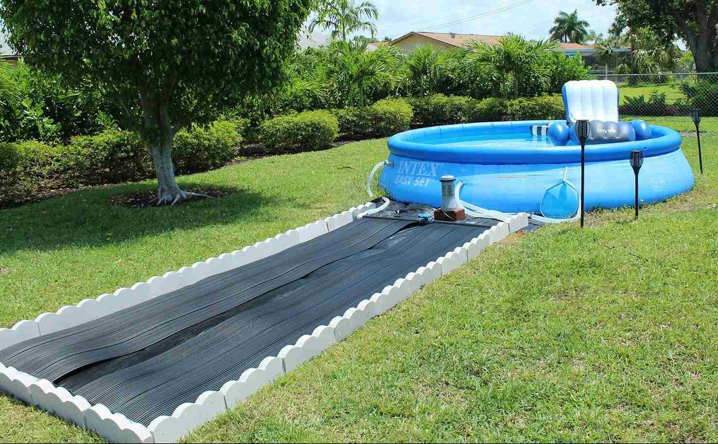 Installed Ground Mounted Solar Panels for Above Ground Pool
