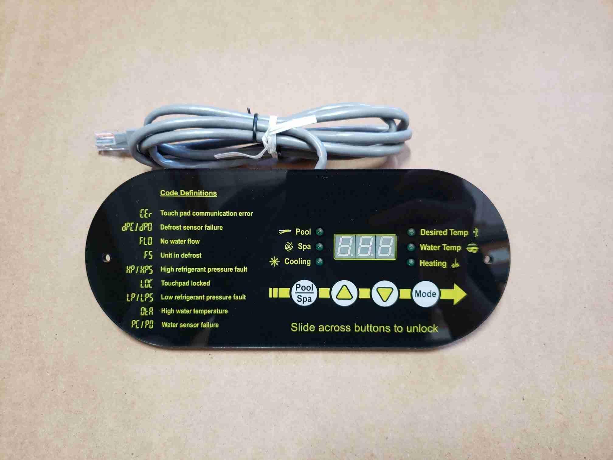 Front view of Display for Heat Pump Display Retrofit Kit