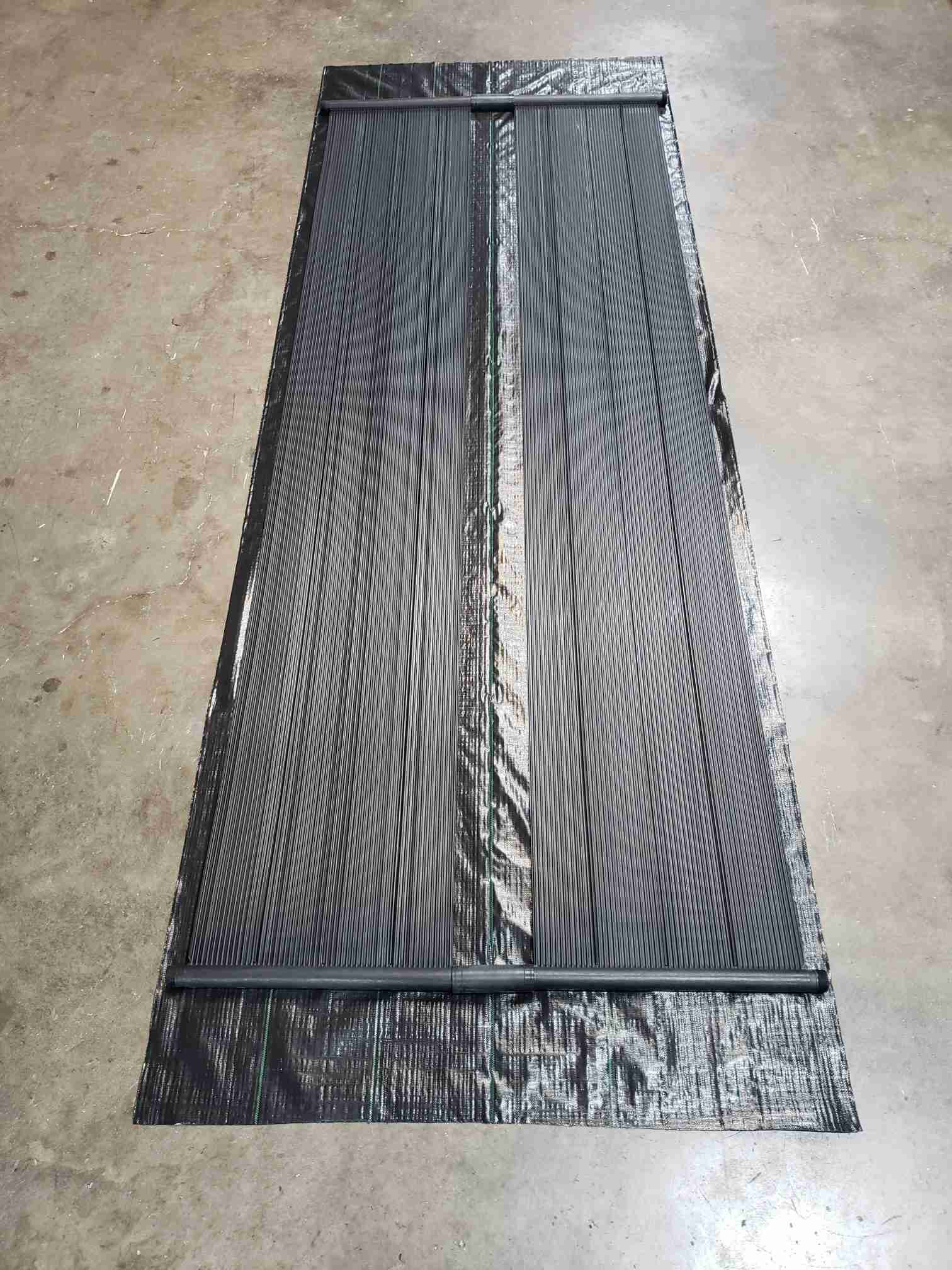 Underlayment weed barrier with panels